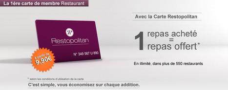 Restaurant Paris et France - Carte Restopolitan - Un Repas Offert à chaque réservation | Seniors | Scoop.it