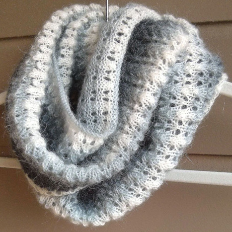 Simple Lace and Mohair Scarf - Purl Avenue | knooking | Scoop.it