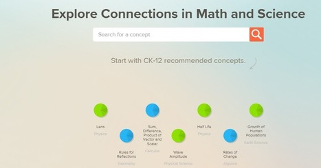 Free Technology for Teachers: CK-12 Concept Maps Show Kids Connections Between Math and Science | Edtech PK-12 | Scoop.it