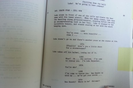 Original Star Wars script from 1976 discovered in Canadian library | News | Geek.com | Library Corner | Scoop.it