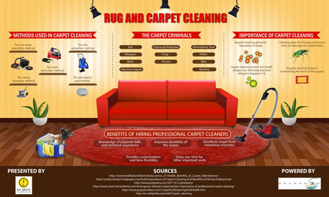 Rug & Carpet Cleaning Methods Infographic Released by NY Brite | Nybrite | Scoop.it