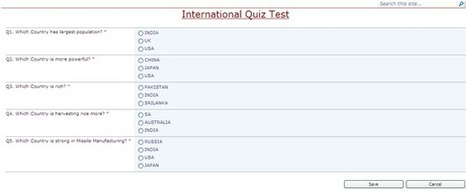 SharePoint 2010 - My Domain: Developing Quiz Test Module in OOB of SharePoint | SharePoint-tips-and-tricks | Scoop.it