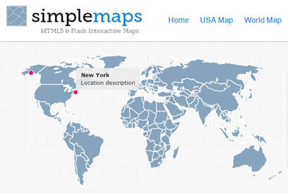 Simplemaps : Carte interactive en HTML/JavaScript ou Flash | DevWeb | Scoop.it