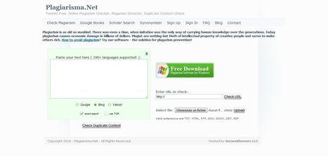 Plagiarisma.Net : check duplicate content | Elearning, pédagogie, technologie et numérique... | Scoop.it