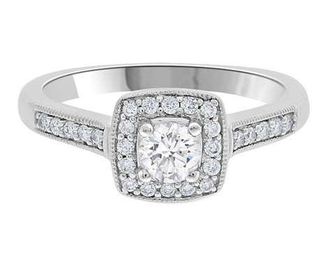 vintage style diamond ring vr1005 | Engagement Rings | Scoop.it