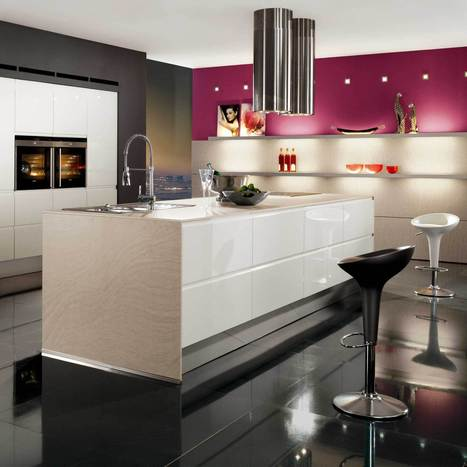 The 10 beautifull modern pink kitchen design | Home living Spaces - Kitchen - Bathroom - Living | Scoop.it