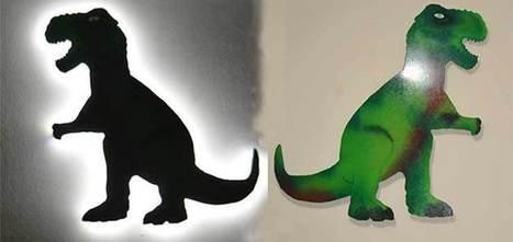 Cómo hacer un dinosaurio decorativo infantil retro iluminado – BricoBlog | Bricolaje | Scoop.it