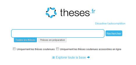 Moteur de recherche des thèses françaises | Time to Learn | Scoop.it
