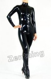Unicolor Black PVC Unisex Catsuit Zentai [C20021] - $44.00 : Shop Zentai Suits Full Bodysuits And Catsuits From Zentaing.com | zentai catsuit lycra | Scoop.it