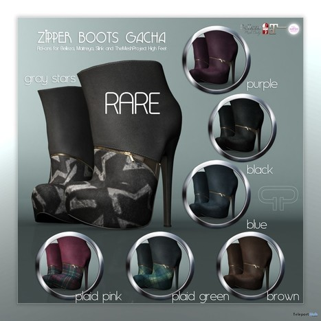 Zipper Boots October 2015 Gacha Group Gift by Pure Poison | Teleport Hub - Second Life Freebies | Second Life Freebies | Scoop.it