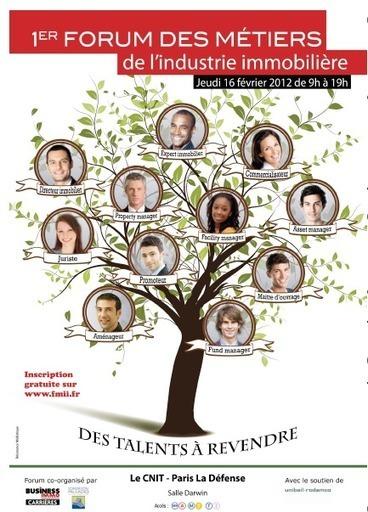 2e édition du forum des métiers de l'industrie immobilière (fmii) | Innovation dans l'Immobilier, le BTP, la Ville, le Cadre de vie, l'Environnement... | Scoop.it
