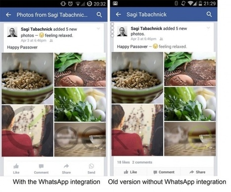 Facebook sneakily integrates WhatsApp button into beta version of its Android app | Peer2Politics | Scoop.it