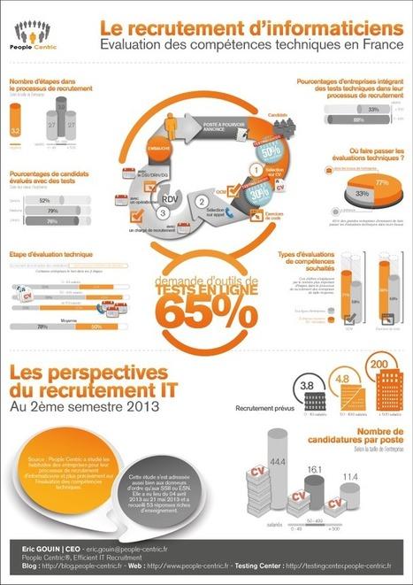 Recrutement informatique : Évaluation des compétences IT - Infographie I People Centric | Entretiens Professionnels | Scoop.it