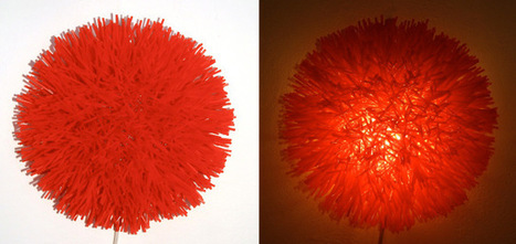 Project 10 Update - Bright Red Drinking Straw Sconce | RECYCLED ART, PRODUCTS AND THINGS | Scoop.it