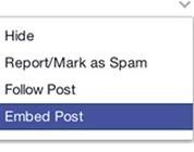 Embedded Post di Facebook: un'evoluzione pericolosa   Social Media & Comunicazione   Scoop.it