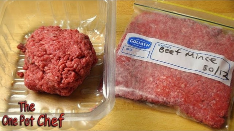 Flatten Ground Beef in Plastic Bags for Faster Freezing and Thawing | Troy West's Radio Show Prep | Scoop.it