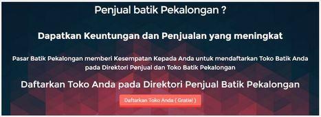 Pasar Batik Pekalongan | Direktori Penjual dan Toko Batik Pekalongan | Bisnis dan Tujuan di Pekalongan - Batang | Scoop.it