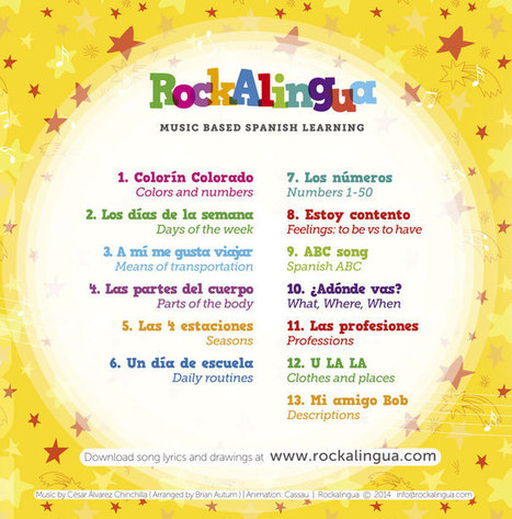 Spanish Music Videos DVD Giveaway: Rockalingua - Spanish Playground | Preschool Spanish | Scoop.it