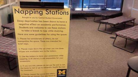 """University of Michigan's undergraduate library adds a """"napping station"""" - Michigan Radio 