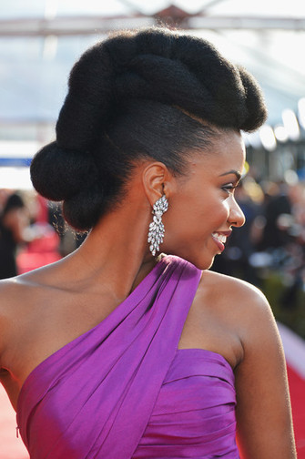 Natural Hairstyles From The Red Carpet - Teyonah Parris Wears Glam Pompadour Updo - The Style News Network | Skin Care 101 | Scoop.it