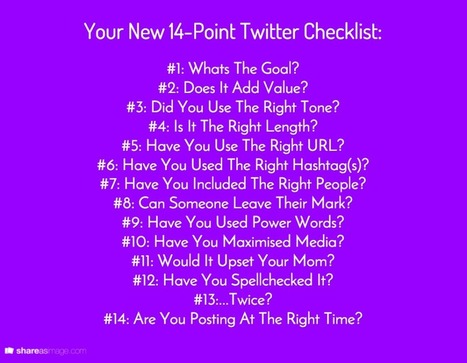 14 Point Checklist: How To Write The Perfect Twitter Update | Google Plus and Social SEO | Scoop.it