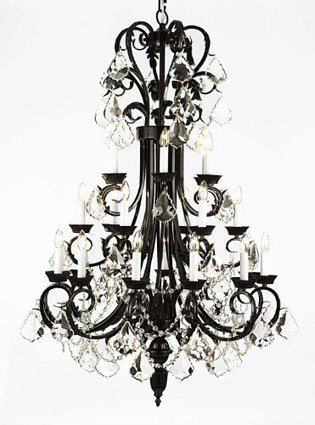 Entryway Wrought Chandelier Inches Crystal | Blog | Jennifer J.'s blog | Lamp | Scoop.it