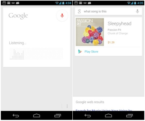 Google goes after Shazam with new Google Now 'what's this song?' feature for Android | Radio 2.0 (En & Fr) | Scoop.it