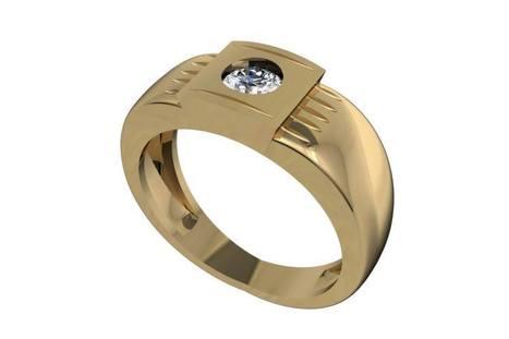 Buy Akshay Men's Solitaire Engagement Ring | Diamond Solitaire Ring | Scoop.it
