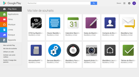 Priv : les applis BlackBerry se dévoilent sur le Google Play | Addicts à Blackberry 10 | Scoop.it