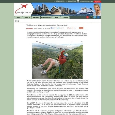 Thrilling and Adventurous Karkloof Canopy Ride | OZ Square | Scoop.it