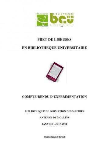 Expérimentation « Prêt de liseuses électroniques en Bibliothèque Universitaire » : le bilan est en ligne | Ressources en médiation numérique | Scoop.it