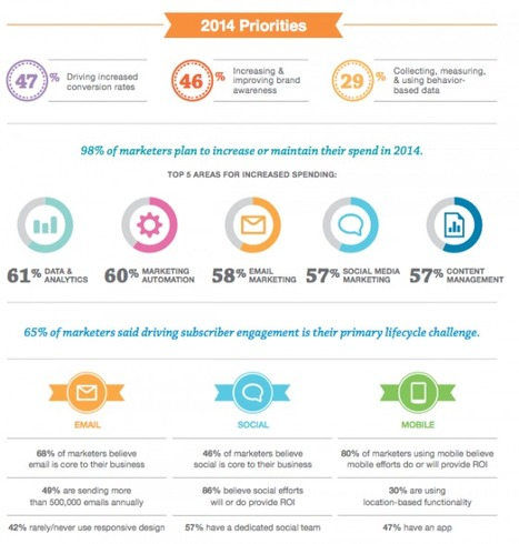 98% des marketeurs augmenteront ou maintiendront leurs investissements dans le digital en 2014   Emarketinglicious   Statistiques & tendances mobiles   Scoop.it