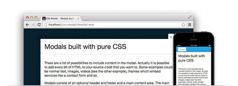 CSS Modal - Modals built out of pure CSS | site UX and Content - ideas, strategies, techniques & the like | Scoop.it