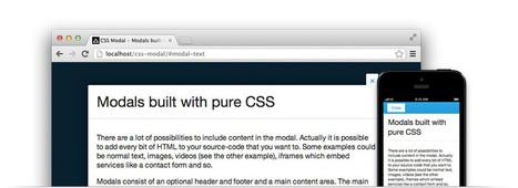 CSS Modal - Modals built out of pure CSS | Ressources et veille web design & développement | Scoop.it