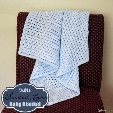 Simple Seeded Lace Baby Blanket - CrochetN'Crafts | Free Crochet Patterns | Scoop.it