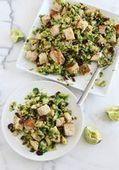 Warm Brussels Sprout Salad - A Beautiful Mess | Dans ma cuisine! | Scoop.it