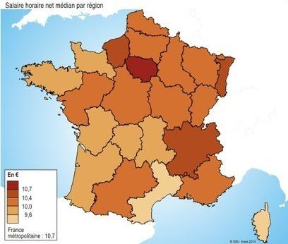 Des salaires relativement peu élevés en Bretagne - Insee Bretagne | Portail Veille Economique Bretagne | Scoop.it