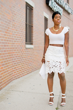 White Crochet Pencil Skirt - Sheinside.com | To Crochet or To Knit that is the question | Scoop.it