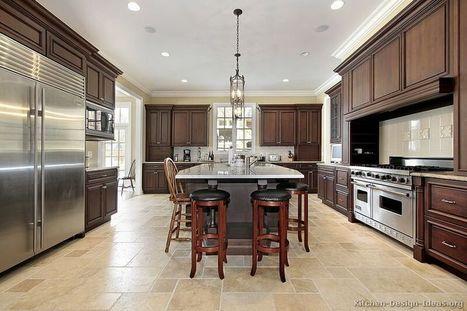 A Large Luxury Kitchen Design with Dark Walnut-Stained Cabinets | Interior Design Trends | Scoop.it