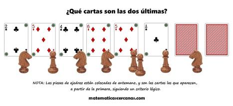 Un acertijo de cartas y piezas de ajedrez... ¿Puedes resolverlo? | Jeux éducatifs | Scoop.it