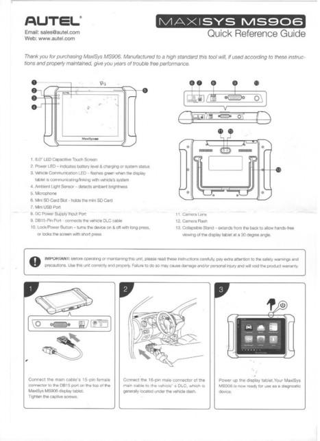 US$1,100.00 - AUTEL MaxiSYS MS906 Auto Diagnostic Scanner Next Generation of Autel MaxiDAS DS708 Diagnostic Tools   obd2 tools   Scoop.it