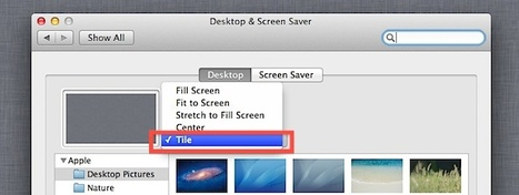 How to Tile Desktop Background Wallpaper in Mac OS X Lion | All Things Mac | Scoop.it