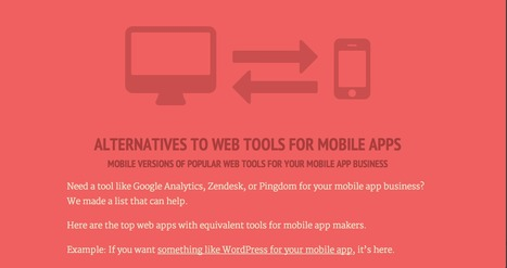 Mobile Alternatives to Your Favorite Web Tools | Mobile App Development | Scoop.it