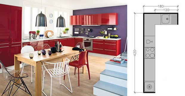 Plan de cuisine en L : 8 exemples pour optimiser l'espace | La Revue de Technitoit | Scoop.it
