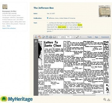 Cher Père Noël : hier et aujourd'hui - MyHeritage.fr - Blog francophone | Rhit Genealogie | Scoop.it