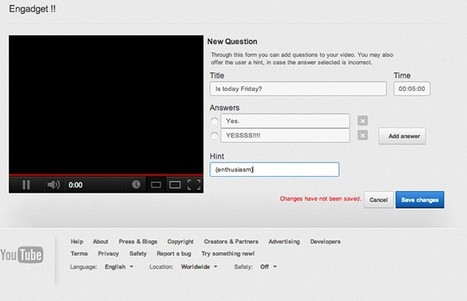 YouTube brings interactive quizzes to videos with Questions Editor beta | Nouvelles des TICE | Scoop.it