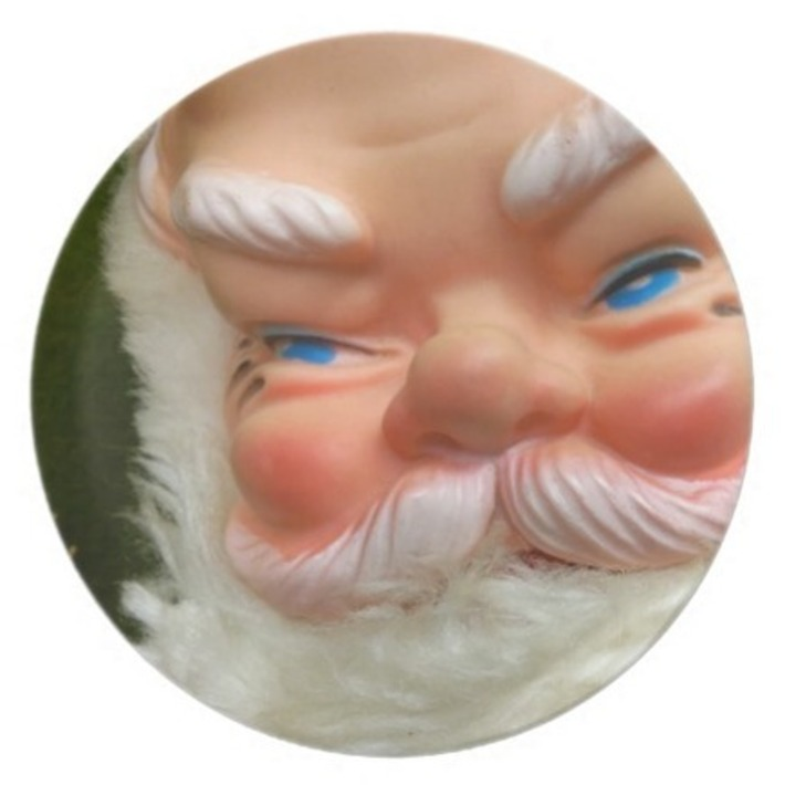 Kitschy Retro Rubber-Faced Masked Santa Plates | Kitsch | Scoop.it