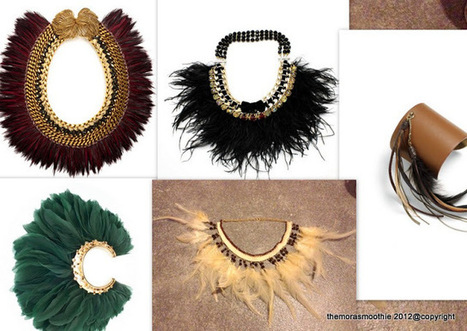 Inspiring feathers... new diy necklace | TAFT: Trends And Fashion Timeline | Scoop.it