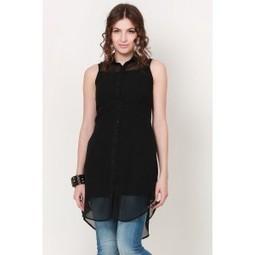 Black Sheer Wonder Shirt Dress   Online shopping for women   Scoop.it