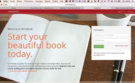 Omnibook. Écrire et éditer un livre en mode collaboratif - Les Outils Collaboratifs | outils numériques pour la pédagogie | Scoop.it